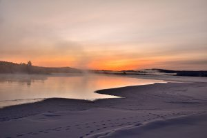 Solnedgang i Pasvik i februar