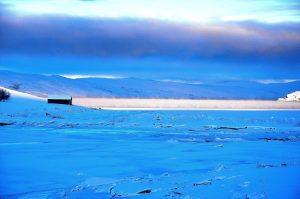 Frostrøyk på fjorden