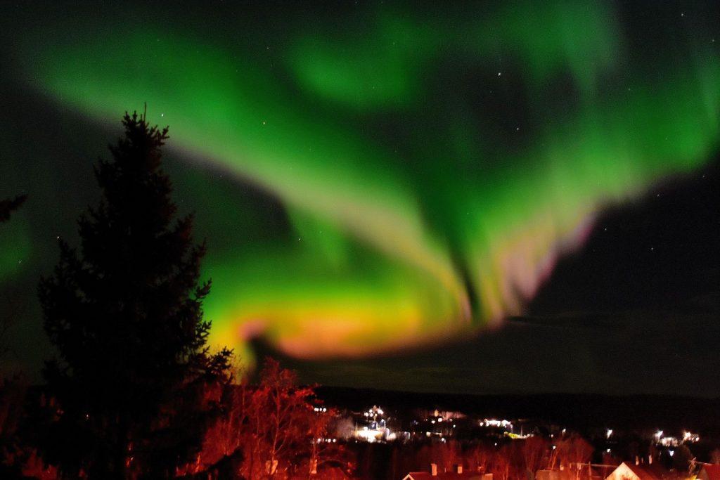 Kraftig nordlys oktober 3