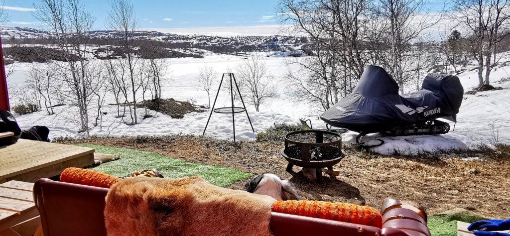 Utsikta fra hyttetunet